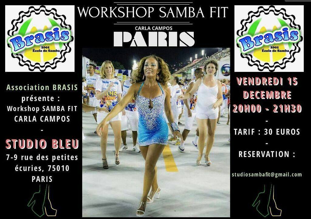 Workshop Samba Fit  Paris 15 dcembre 20002130  Studiohellip